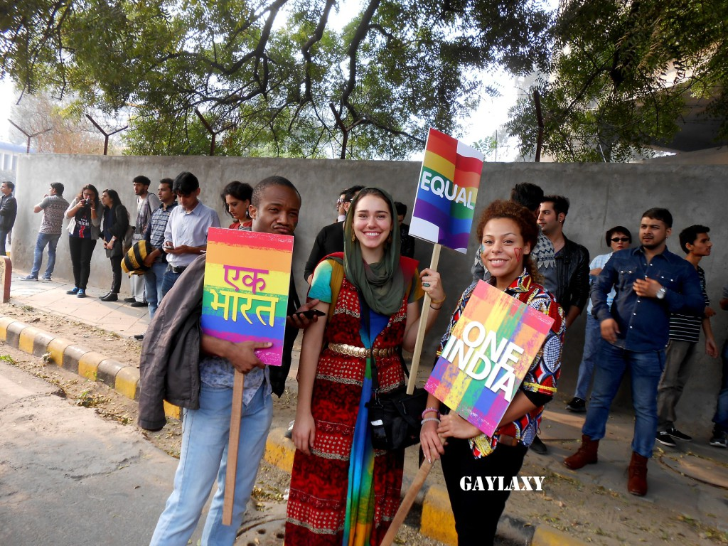 Foreigners taking part in Delhi Queer Pride 2015