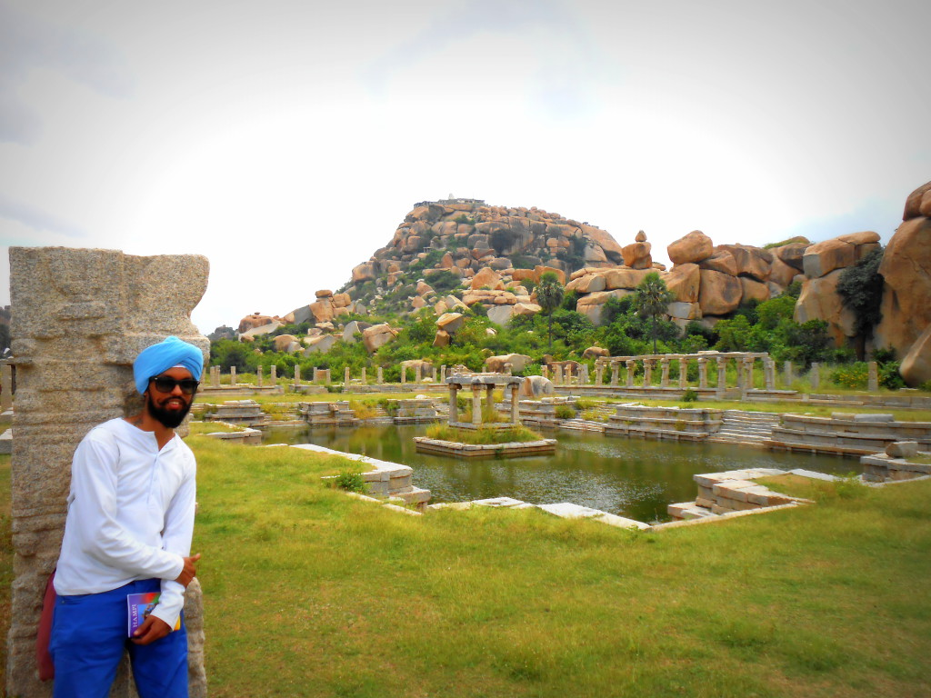 Me at Hampi in Karnataka